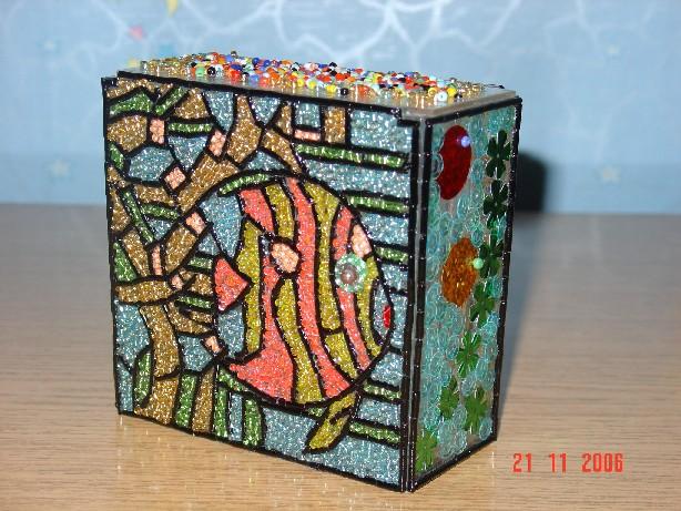 Мозаика из бисера.  Аквариум.