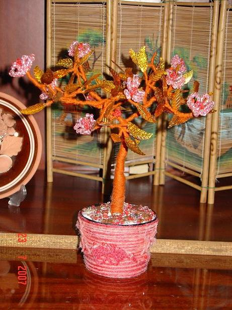 Бисероплетение.  Японское дерево Сакура.